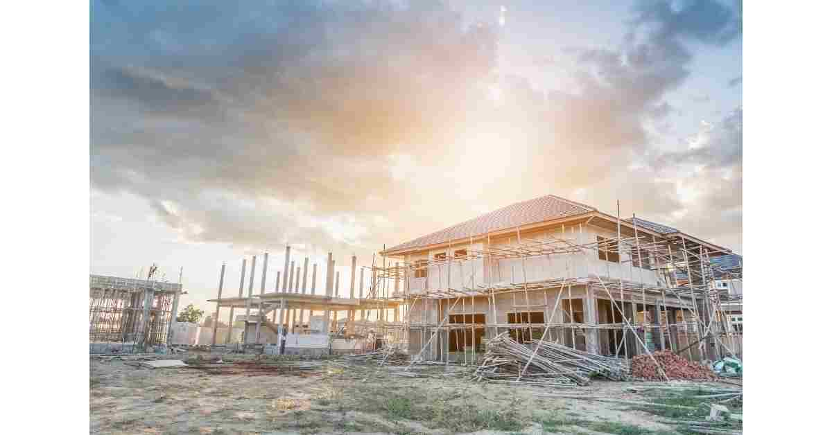 New build properties under construction