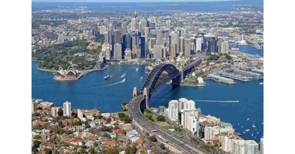 An aerial view of Sydney. Sydney has been a favourite for foreign investors.