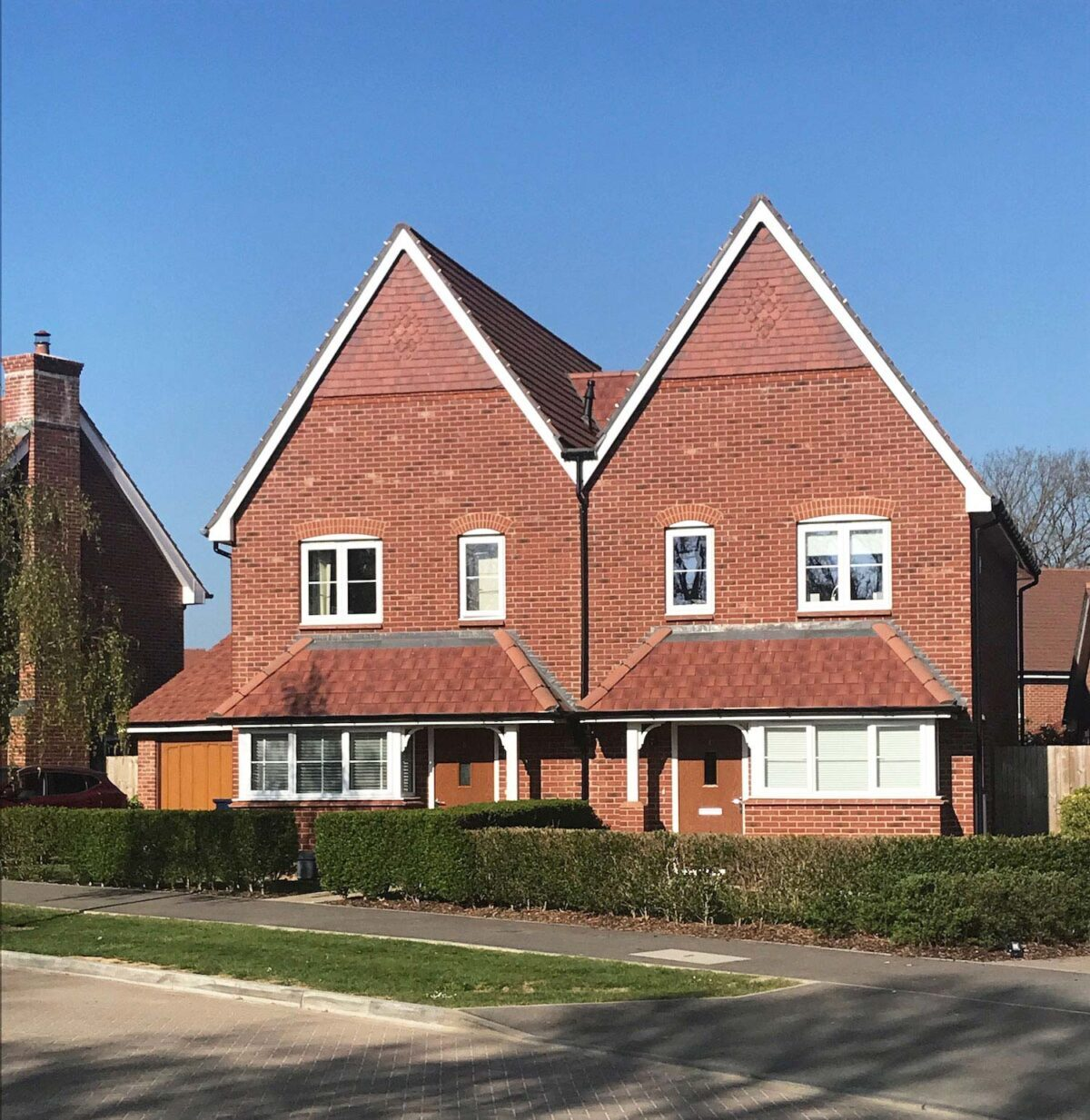 Semi detached houses are a popular type of house in the UK