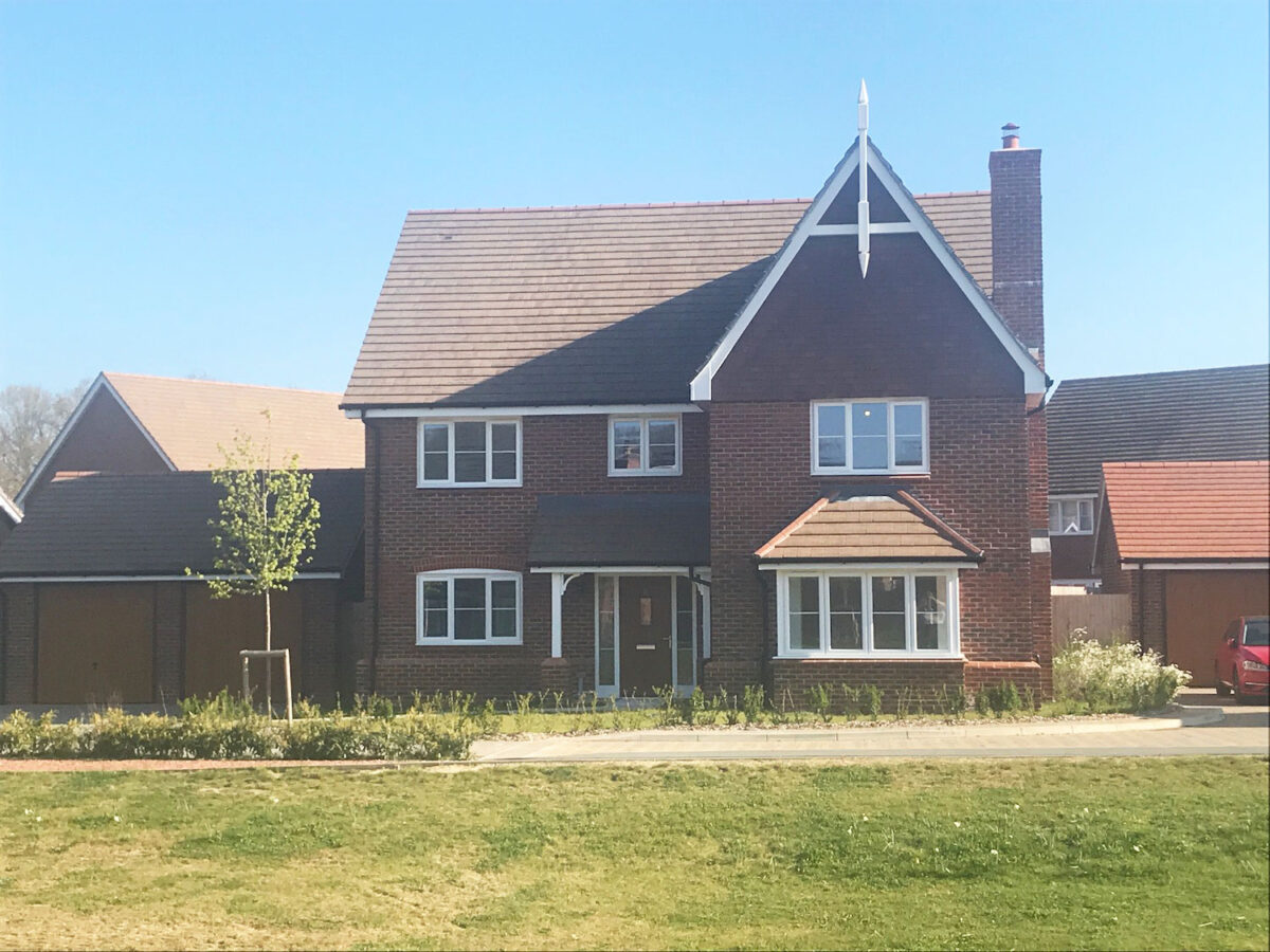 A detached house on a new development in South East England.