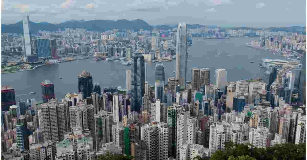 Hong Kong Skyline - hundreds of international property exhibitions are held in Hong Kong each year