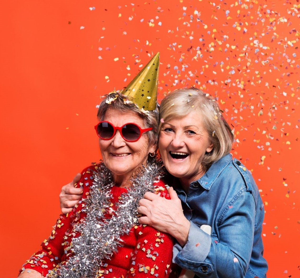 pensioners having a party