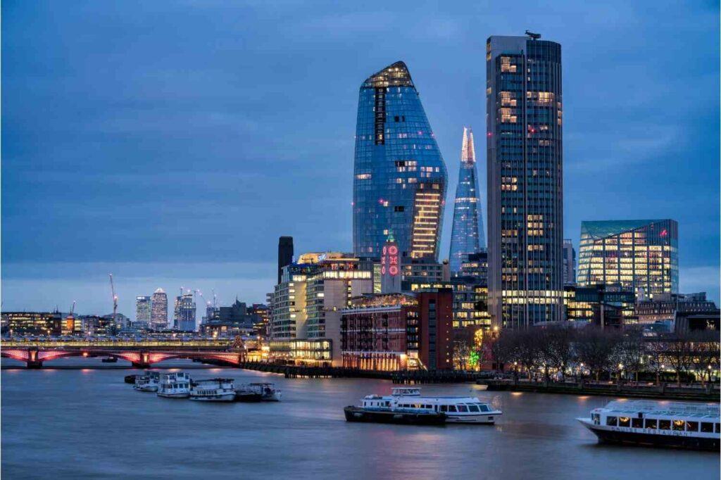 One Blackfriars in London.  This UK property was popular with foreign buyers.