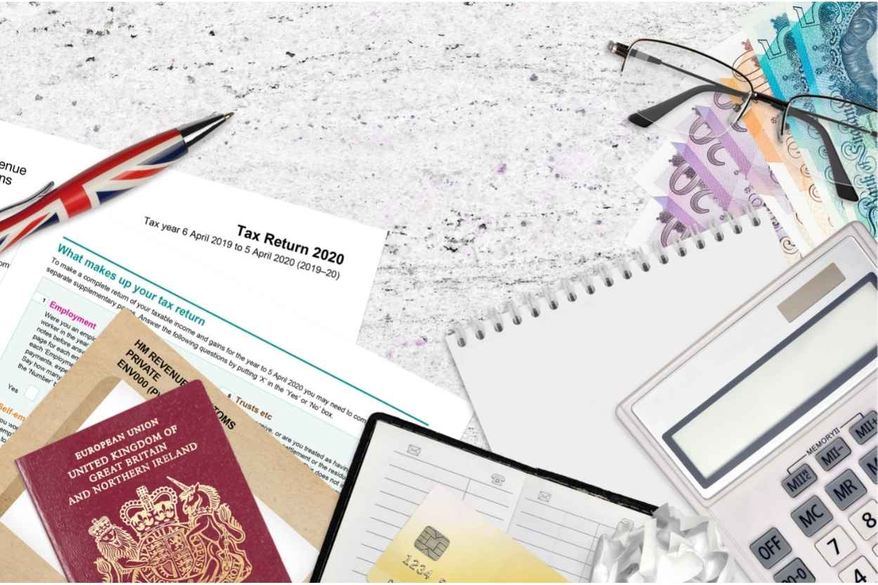 Tax return form.  What can landlord's offset against tax in the UK?  Always seek the advice of a professional tax advisor.