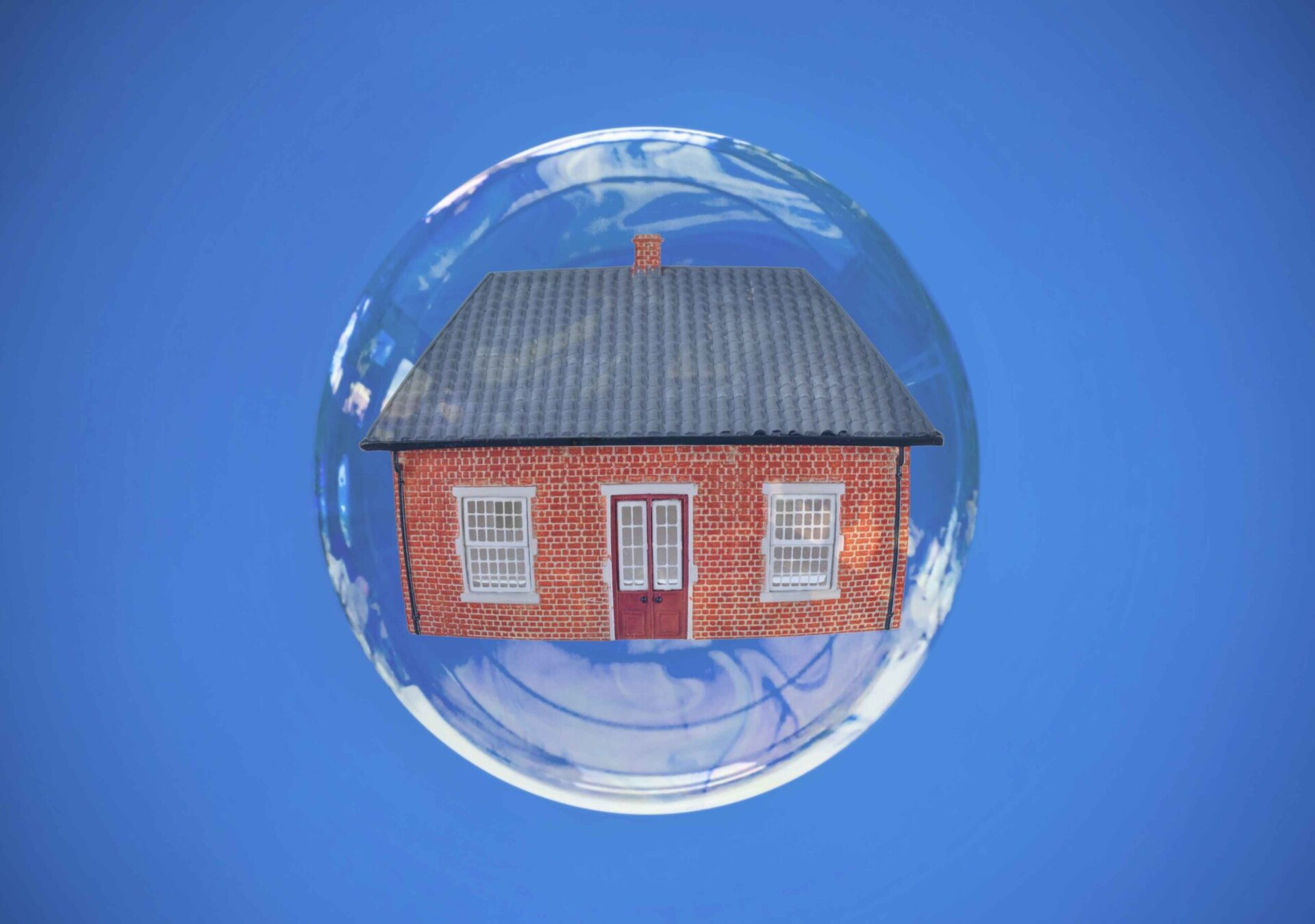 House inside a bubble.  Are we in a property bubble?