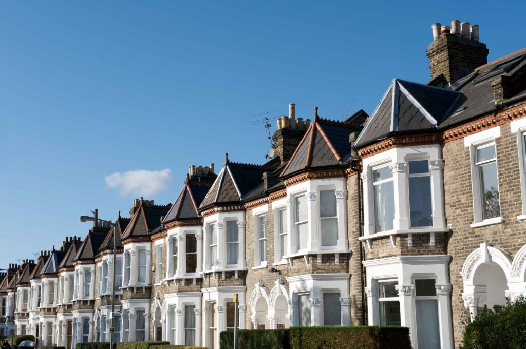 Terraced houses in London are often converted into flats with a share of freehold.